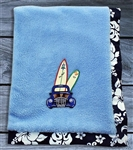 Boys Surfing Baby Blanket
