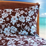 Chocolate & Blue Comforter with Pillowcases