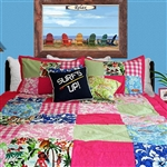 Girls Hawaiian Patchwork Comforter