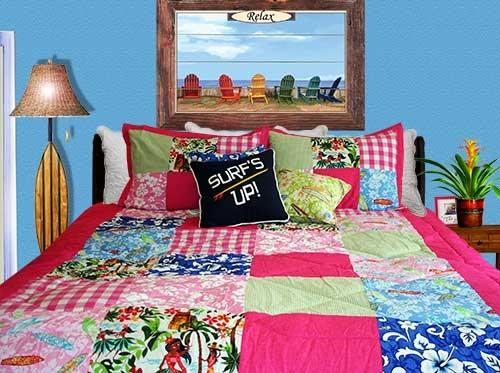 Girls Hawaiian Patchwork Comforter Set by Beach House Designer ... : patchwork quilt sets - Adamdwight.com