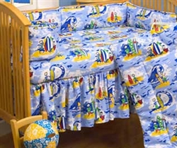 Hawaiian Baby Crib Bed Skirt
