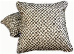 Lauhala Mat Fabric Throw Pillow
