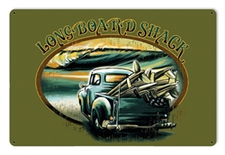 Longboard Shack Metal Sign