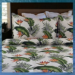 Natural Birds of Paradise Bedspread