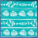 Outdoor Caicos Ocean Throw Pillow