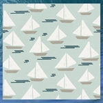 Outdoor Sailboat Throw Pillow
