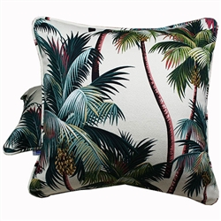 Palm Tree Natural Throw Pillow