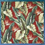 Red Birds of Paradise Fabric