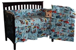 Race Car Four Piece Crib Set