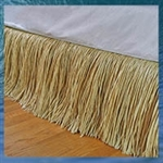 Natural Raffia Bed Skirt