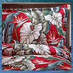 Red Birds of Paradise Quilt