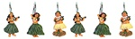 Hula Girls Shower Curtain Hooks