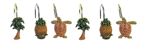 Tropical Shower Curtain Hooks  Tropical Shower Curtain