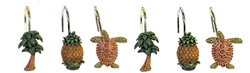 Tropical Shower Curtain Hooks