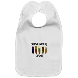 Surfer Themed Baby Bib
