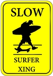 Surfer Crossing Sign