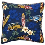 Tradewind Trolly Throw Pillow