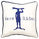 Wave Rider Throw Pillow