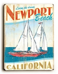 Coastal Sailboat Sign