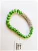 Crystal Tube Faux Emerald Bracelet B1384