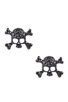 Hot Sell Skull Head Hip Hop Stud Earrings E1497