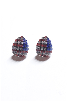 Crystal Accent American Style Stud Earrings E1542