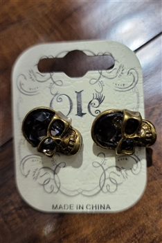 Skull Head Crystal Earrings E1635