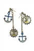 Crystal Accent Anchor Drop Earrings E1797