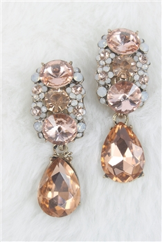 Women Faceted Crystal Rhinestone Drop Earrings E1801