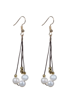 Pearl Long Charming Earrings E1997