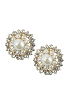 Pearl Crystal Earrings E2025
