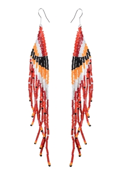 Peacock Tassel Long Earrings E2068