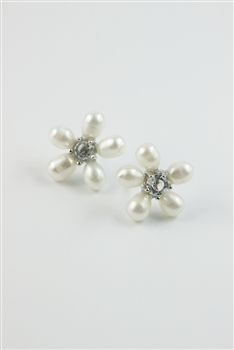 Flower Pearl Stud Earrings E2077