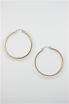 Feather Circle Earrings E2081