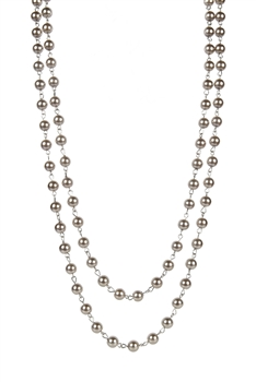 Fashion Bead Necklace Multi Layer Long Pearl Necklaces N1074