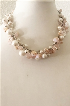 Crystal Pearl Short Necklaces N1519
