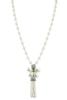 Pearl Flower Pendant Necklaces N1976