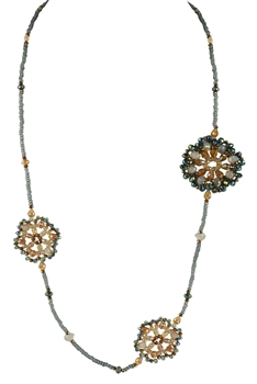 Three Flower Crystal Necklaces N2080