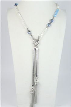 Crystal Long Tassel Necklaces N2117