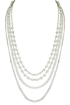 Multi-layer Long Crystal Necklaces  N2143