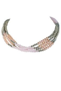 Multi-layer Pearl Crystal Necklaces N2162
