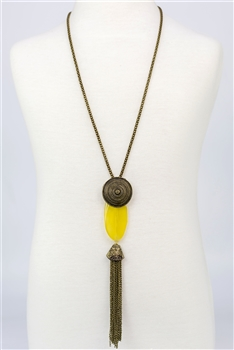 Long Chain Tassel Necklaces N2170