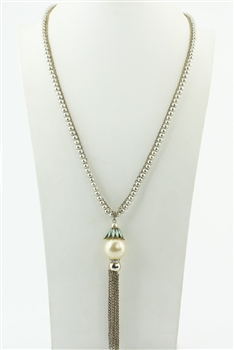 Long Chain Tassel Necklace N2296
