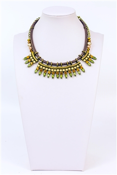 Crystal Metal Necklace N2305