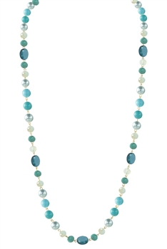 Crystal Pearl Necklace N2307