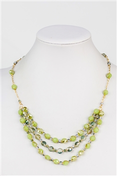 Three-layer Crystal Necklace N2356