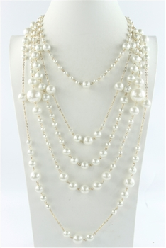 Multi-layer Pearl Long Necklaces N2386