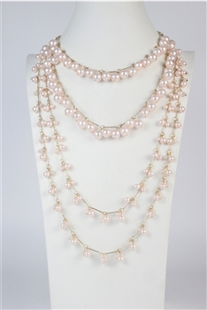Multi-layer Pearl Long Necklaces N2485