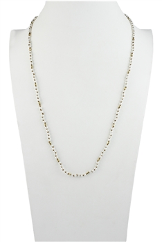 Simple Generous Tiny Pearl Beads Long Necklace N3041