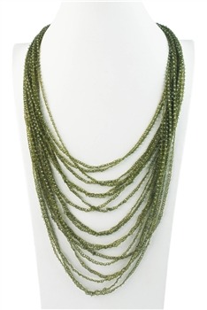 Multpile Layer Long Crystal Beads Necklaces N3052